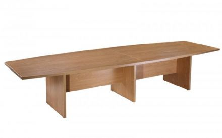 3600mm Boardroom Table Crown Cut Oak